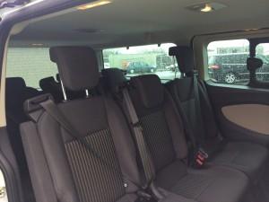 Inside 9 Seat minibus