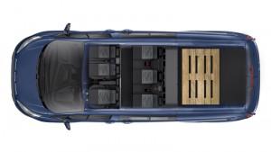 Plan view of Custom LWB Crew Van