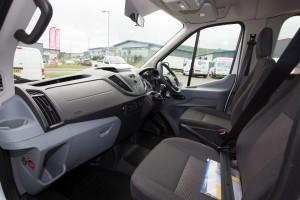 Inside Transit minibus hire Dash Drive