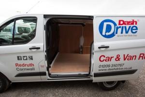 Dash Drive Van rental Custom Side