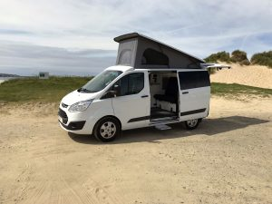 Campervan hire Cornwall Hayle beach